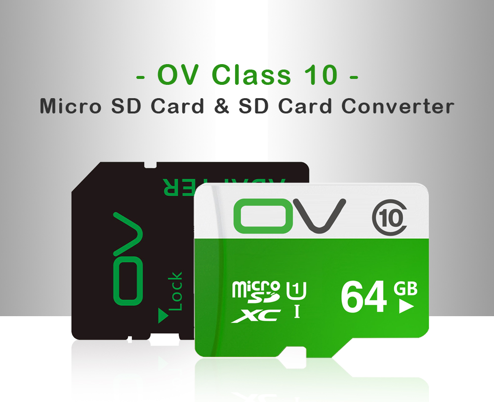 Original OV 80MB/S Class10 Micro SD Memory Card With Micro SD to SD Card Reader Set 22