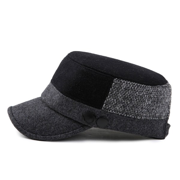 Unisex Woolen Polyester Military Hat Mixed Color ...