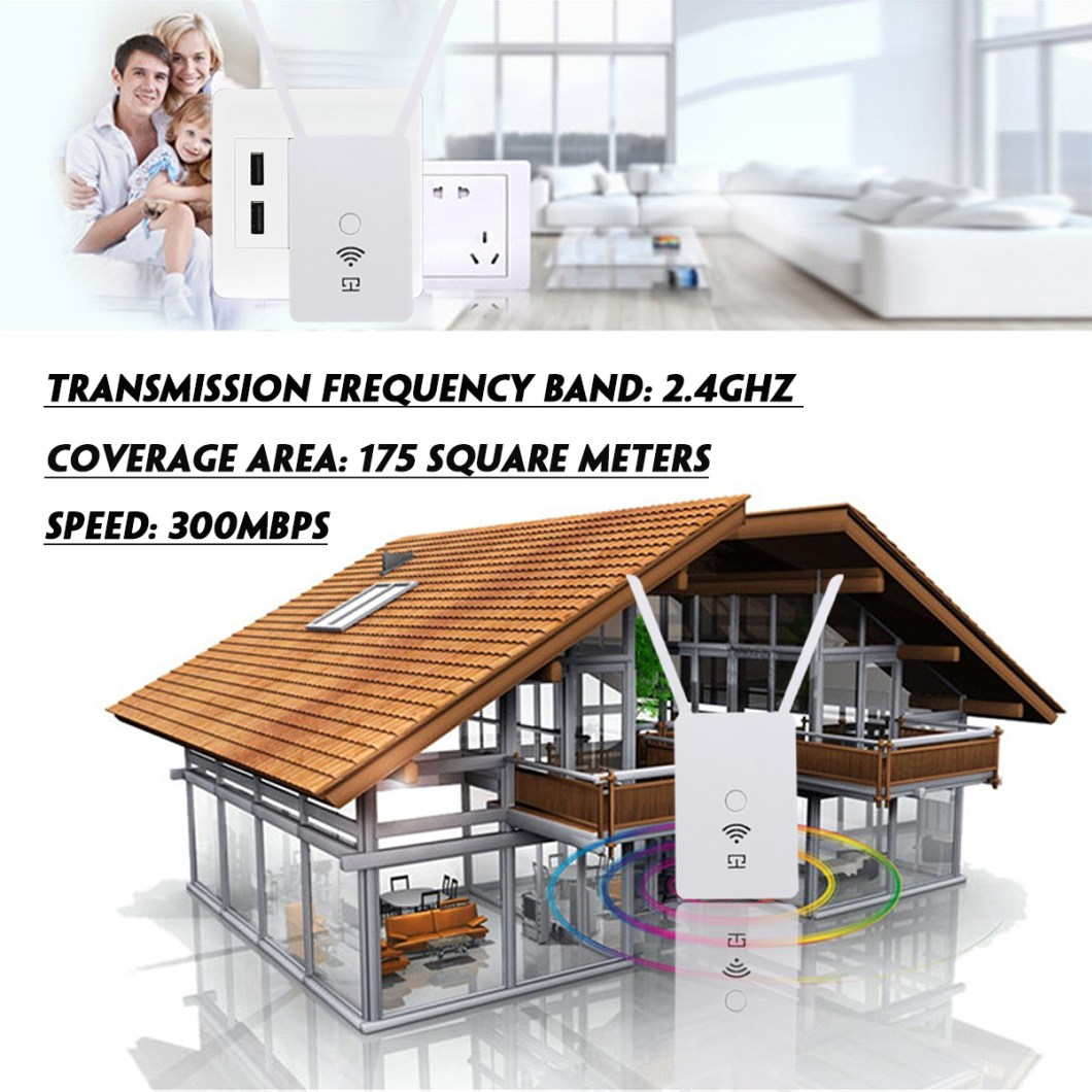 300Mbps 2.4Ghz Wireless Wifi Repeater Amplifier Extender 23