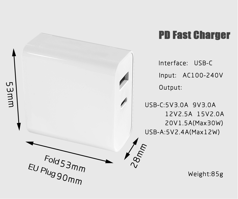 Bakeey 45w Pd Fast Charging Eu Plug Charger Eu Plug