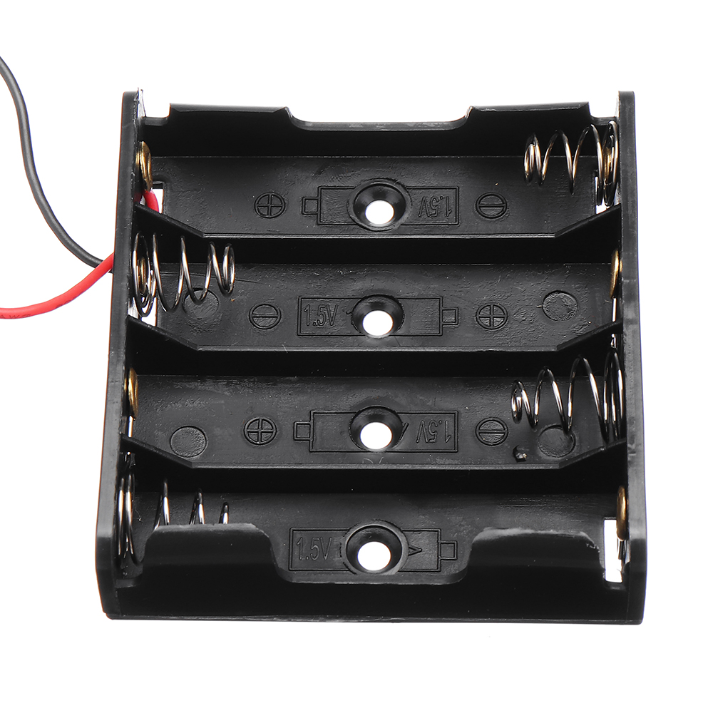10pcs DIY 6V 4-Slot / 4 x AA Battery Holder With Leads 11