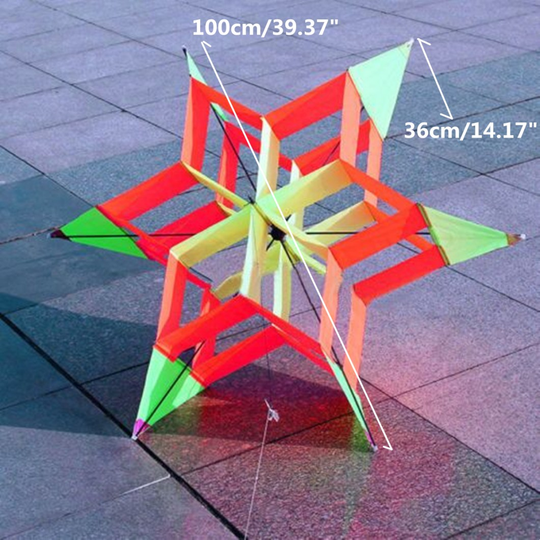 3D Colorful Flower Kite Single Line Outdoor sports Toy Light Wind Flying Kids 24