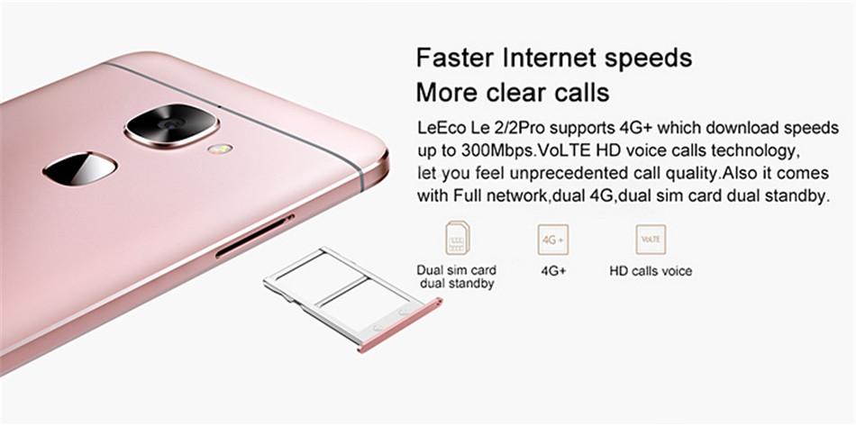 LeEco Le S3 X526 5.5 Inch 3GB RAM 32GB ROM MSM8976 Snapdragon652 1.8GHz Octa Core 4G Smartphone