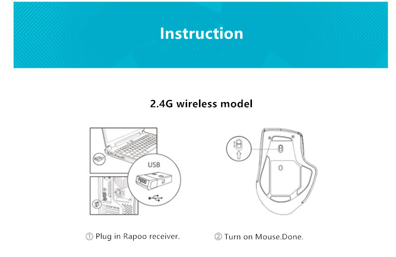 Rapoo MT750S Rechargeable Multi-mode Wireless Mouse Bluetooth 3.0/4.0 2.4GHz Switch Among 4 Devices 15
