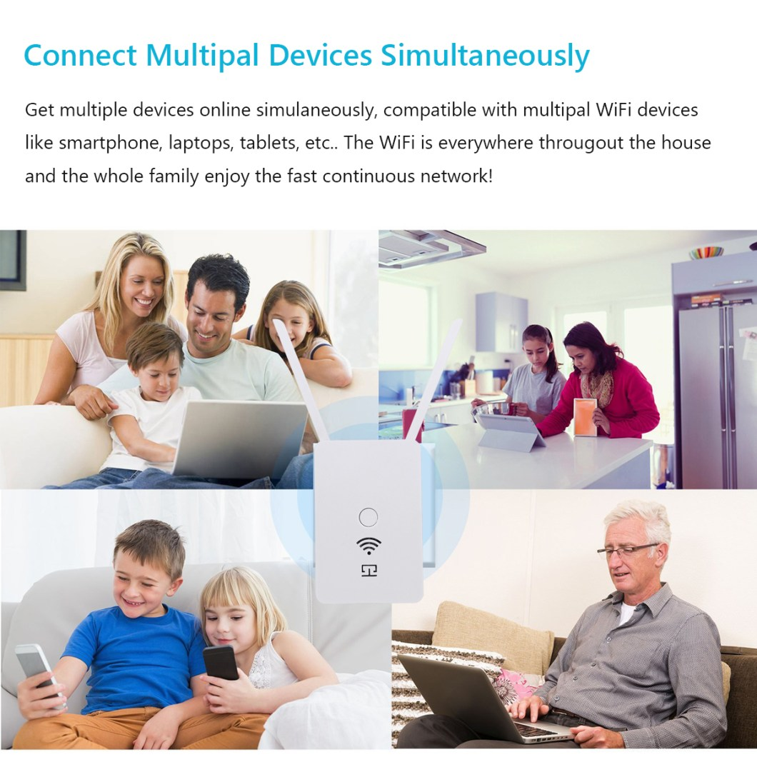 300Mbps 2.4Ghz Wireless Wifi Repeater Amplifier Extender 24