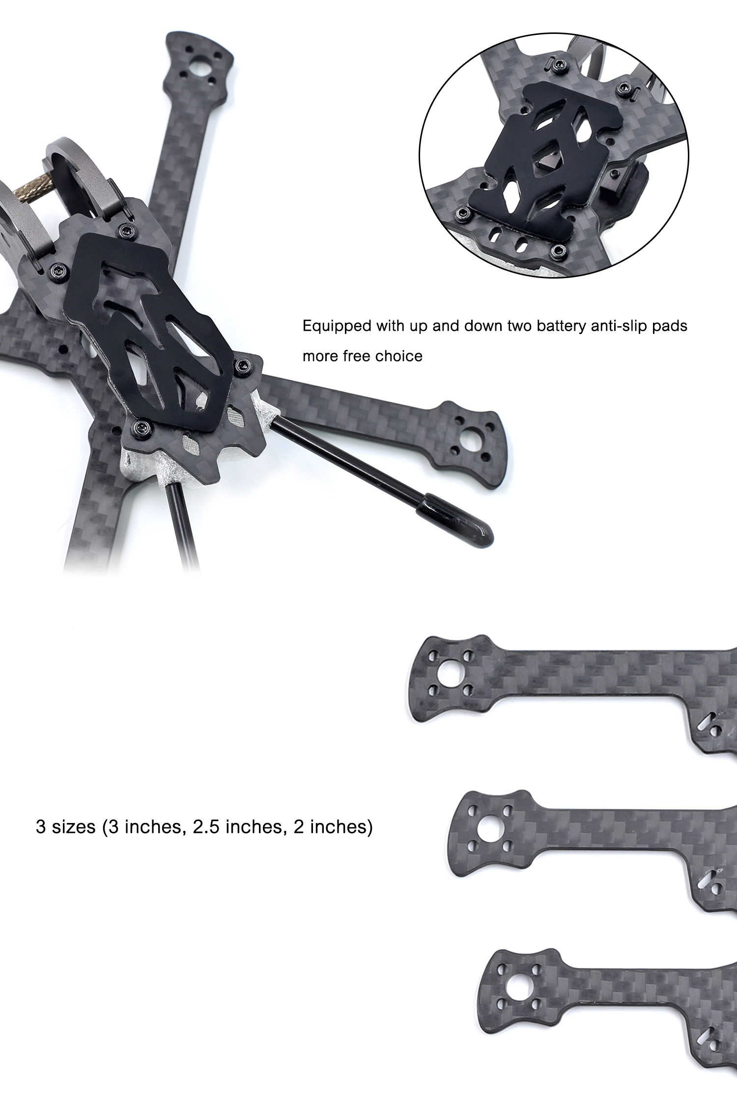 Geprc Gep Px2 5 2 5 Inch 125mm Wheelbase 3mm Arm 3k Carbon