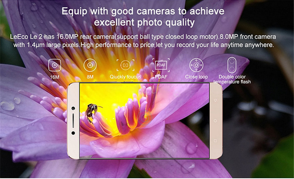 LeEco Le S3 X526 5.5 Inch 3GB RAM 32GB ROM MSM8976 Snapdragon652 1.8GHz Octa Core 4G Smartphone