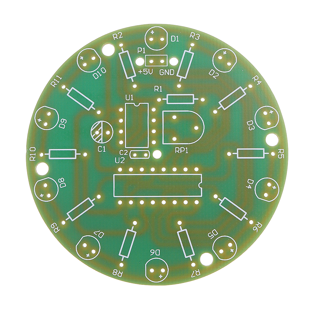DIY 4017 Running Water Light NE555 LED Horse Race Lamp Flash Kit 34