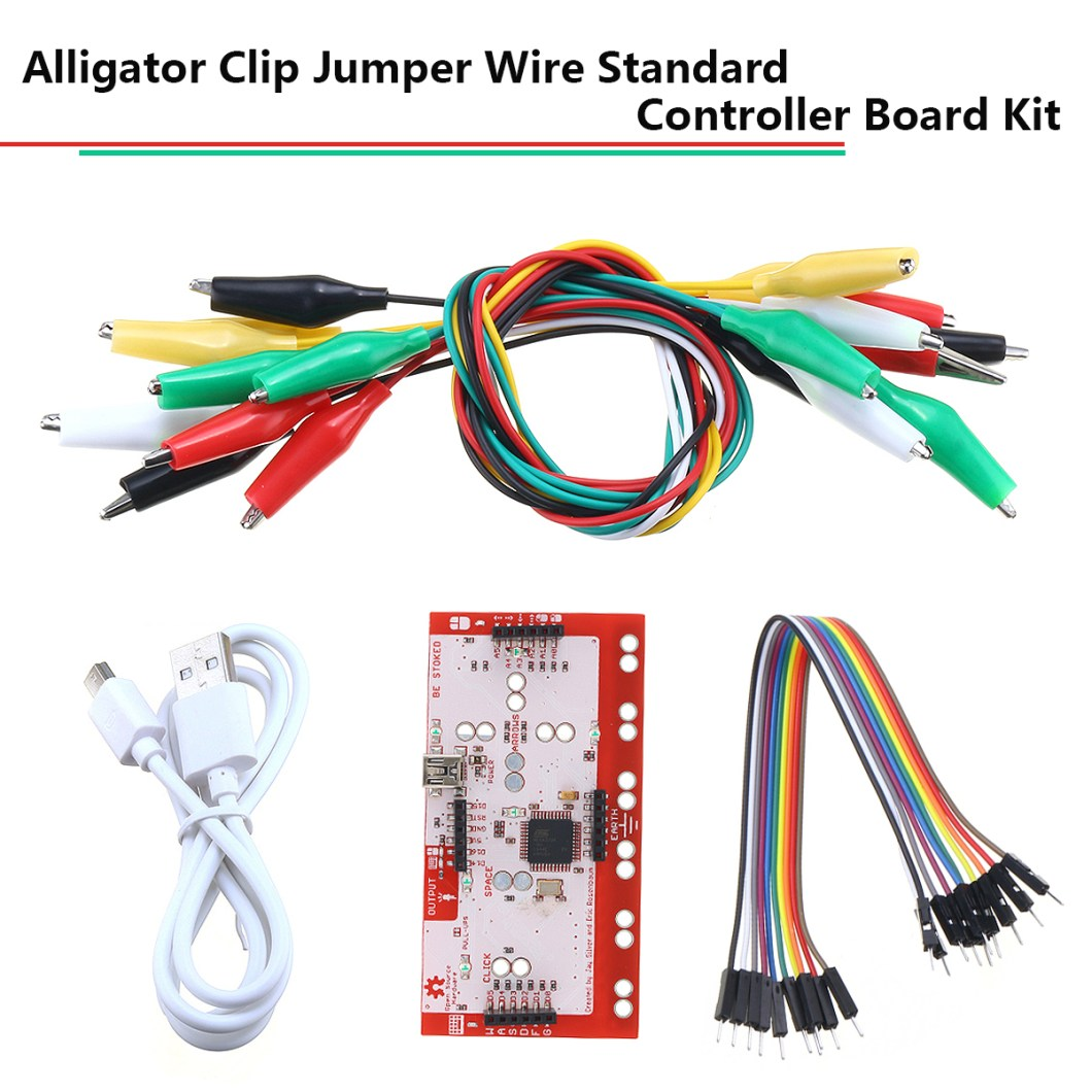 Alligator Clip Jumper Wire Standard Controller Board Kit for Makey Makey Science Toy 23