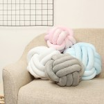 10 12 Soft Knot Pillow Sofa Cushion Round Ball Plush Pillow Home Car Decorations