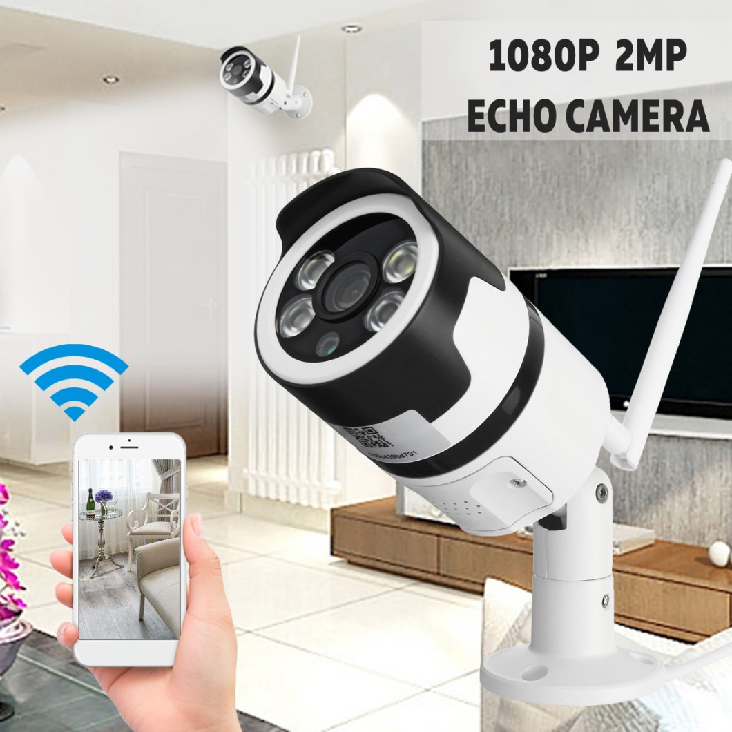 1080P 2MP WiFi Home Security IP Camera Motion Detection Night Vision For Alexa Echo 10
