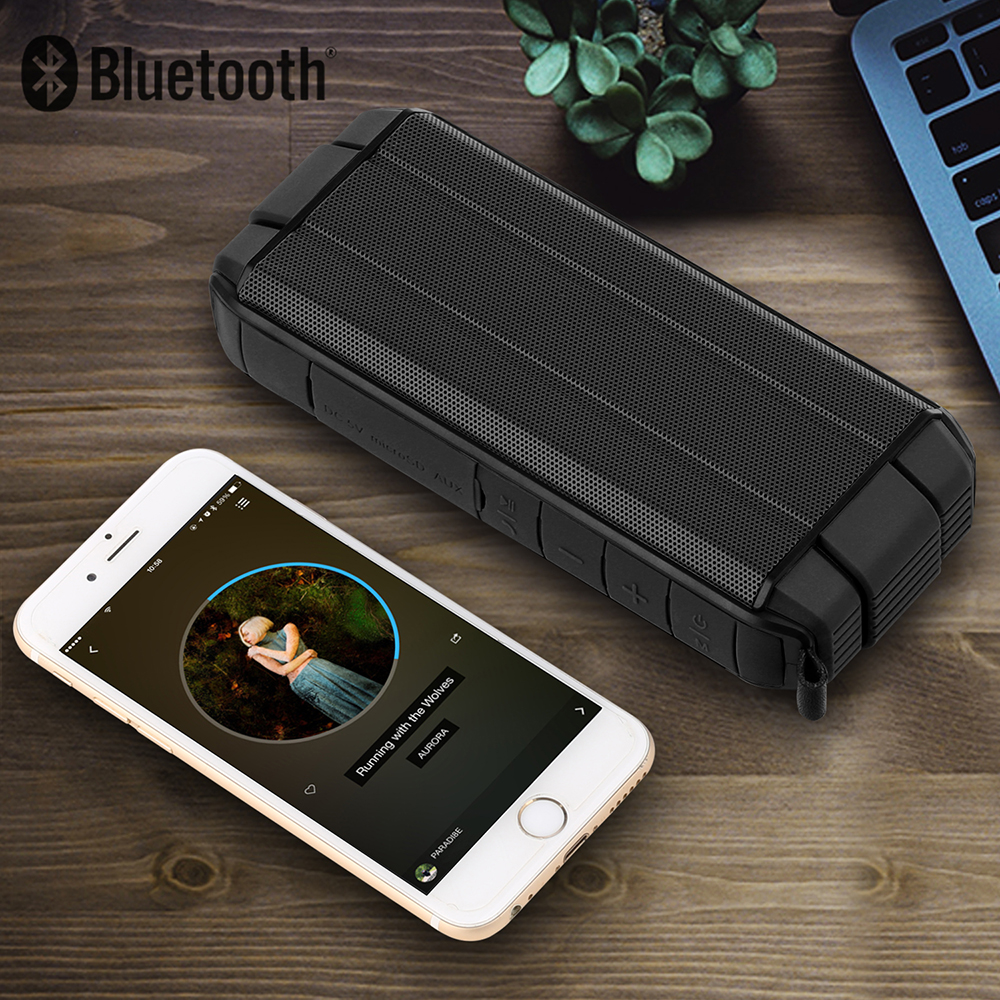 Bakeey™ IP65 Waterproof 10W Dual Unit Wireless Bluetooth V4.2 Speaker Tf Card Hands Free with Mic 10