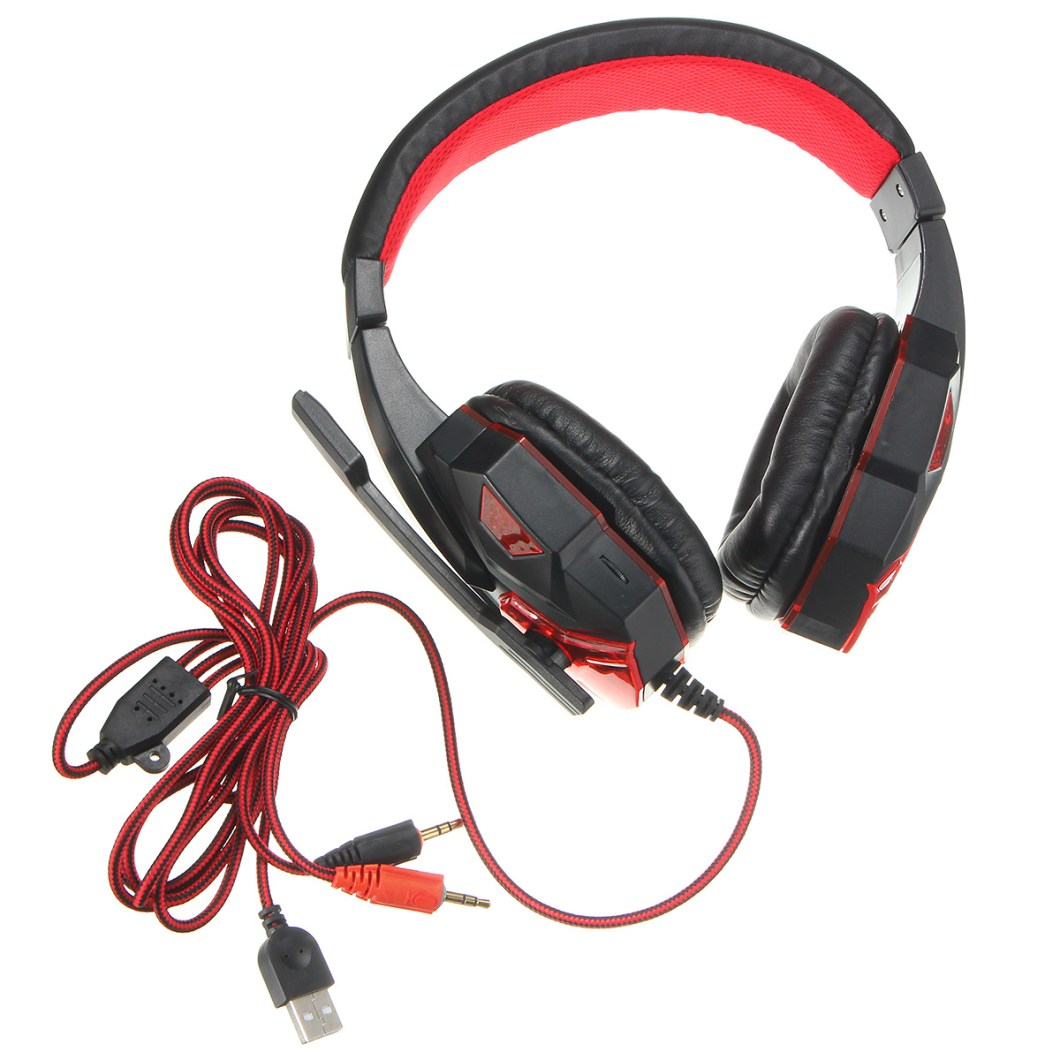 USB 3.5mm LED Surround Stereo Gaming Headset Headbrand Headphone With Mic 14