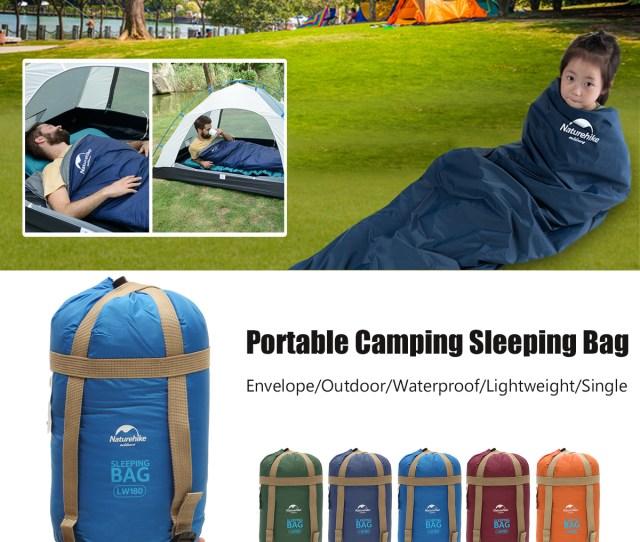 Naturehike Nhs D Ultralight Envelope Single Sleeping Bag Waterproof Portable Camping Blanket