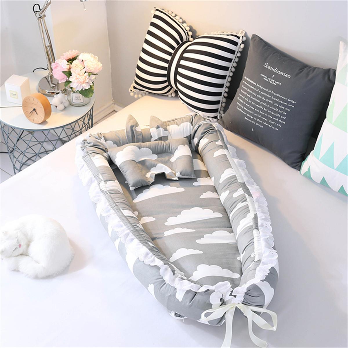 portable folding bed baby pillow sleep