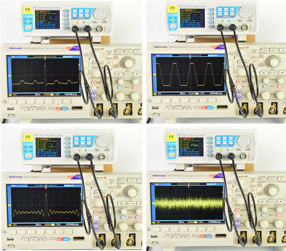 FY6800 2-Channel DDS Arbitrary Waveform Signal Generator 14bits 250MSa/s Sine Square Pulse Frequency Meter VCO Modulation 37