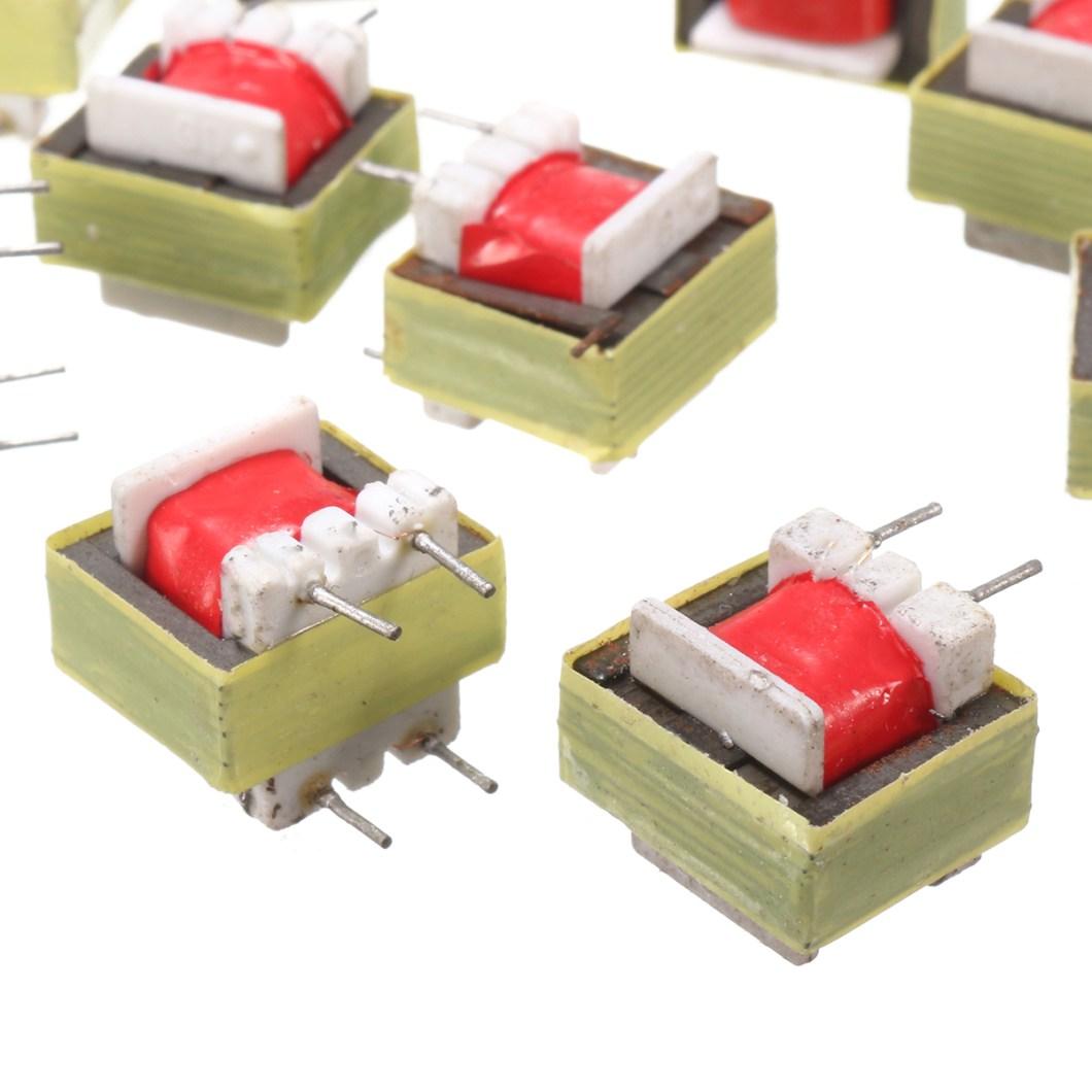 50pcs 1300 : 8 Ohm Audio Transformer EE14 Transformateur Audio POS Transformador 27