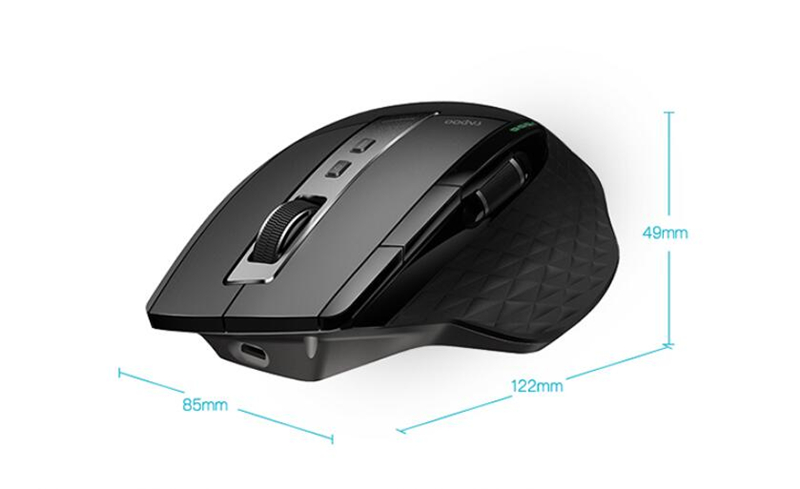 Rapoo MT750S Rechargeable Multi-mode Wireless Mouse Bluetooth 3.0/4.0 2.4GHz Switch Among 4 Devices 14