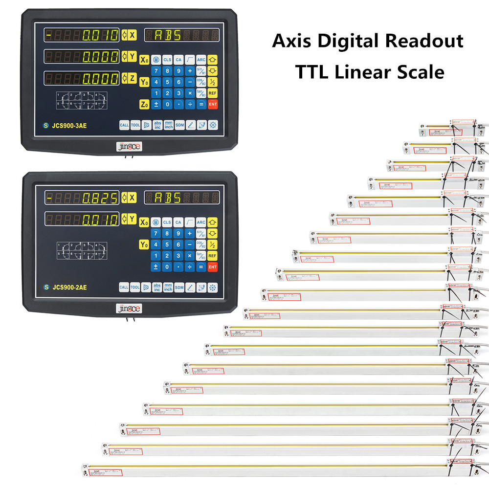 2/3 Axis Grating CNC Milling Digital Readout Display / 50-1000mm Electronic Linear Scale Lathe Tool 53