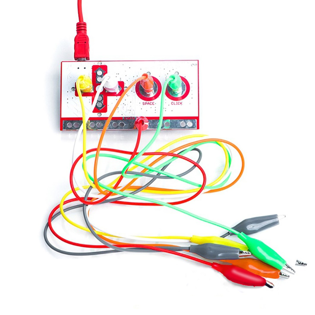 Alligator Clip Jumper Wire Standard Controller Board Kit for Makey Makey Science Toy 25