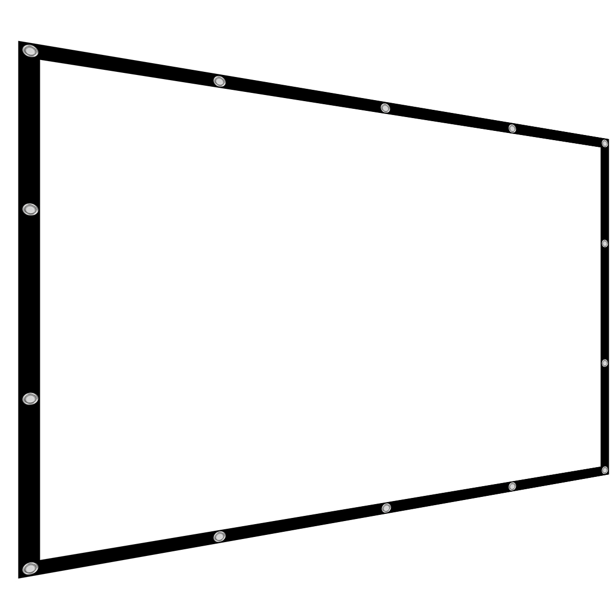 54 84 100 112 Inch 4 3 Projector Screen Manual Hanging