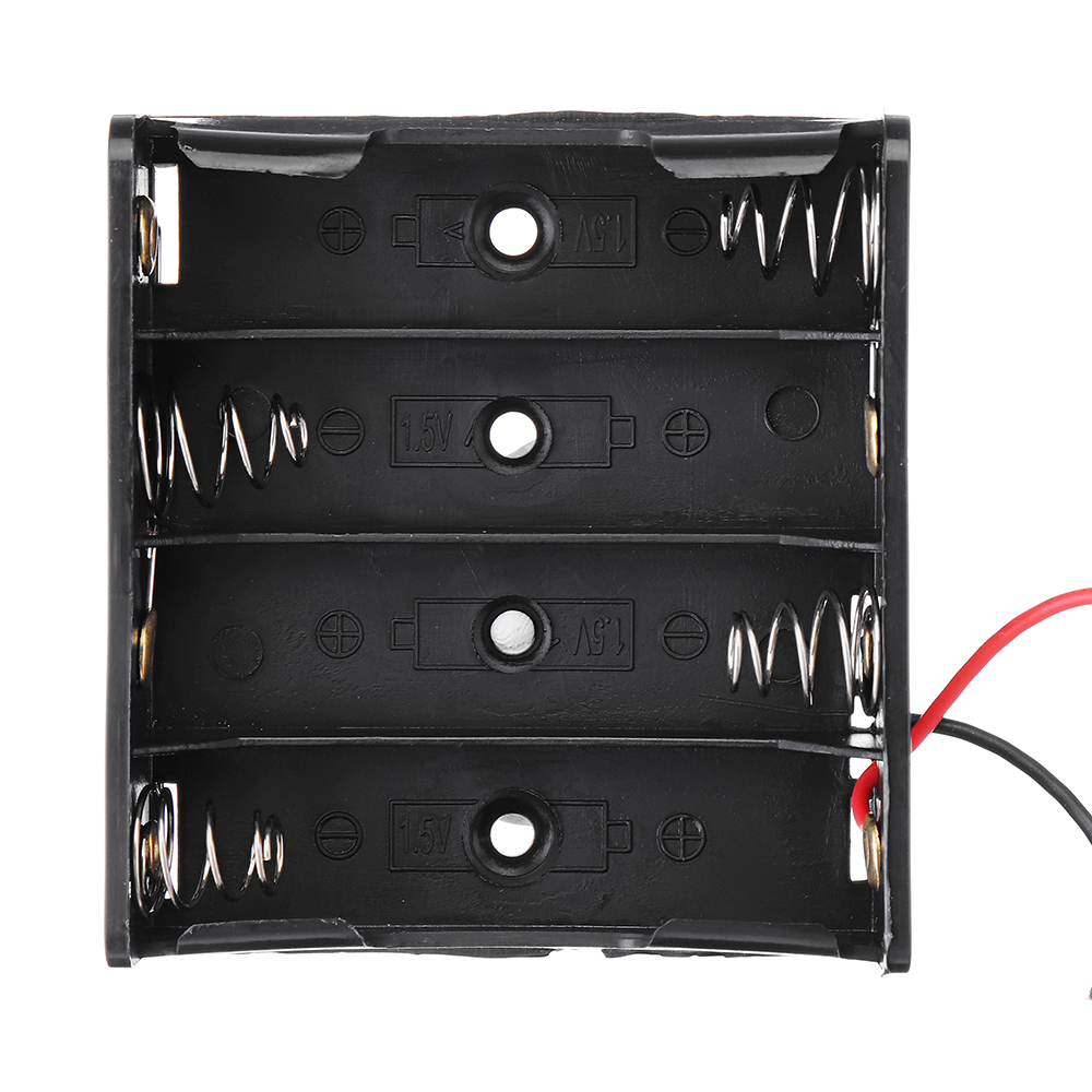 3pcs DIY 6V 4-Slot / 4 x AA Battery Holder With Leads 10