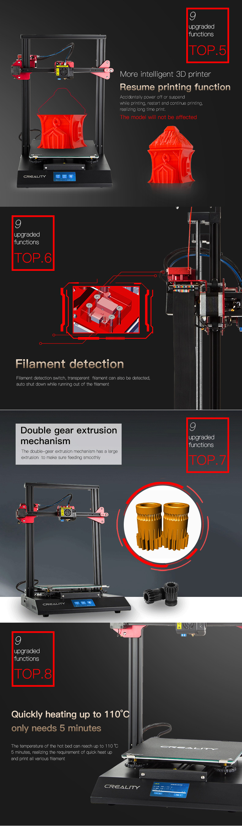Creality 3D® CR-10S Pro DIY 3D Printer Kit 300*300*400mm Printing