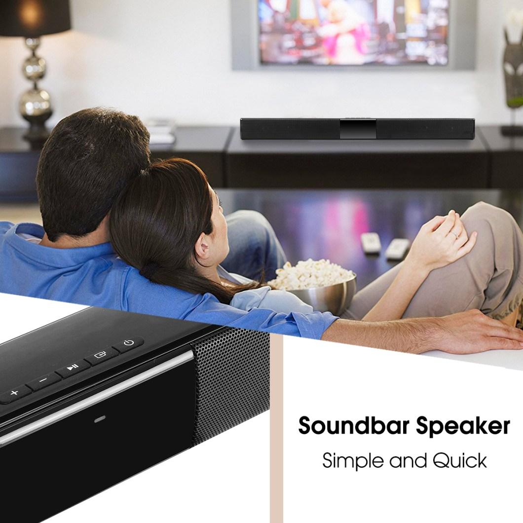 20W Wireless Bluetooth Speaker HiFi Stereo Soundbar FM Radio TF Card Aux-in Bass Speaker with Mic 12