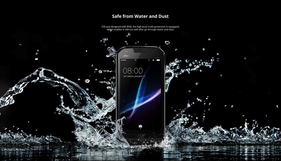 DOOGEE S30 5.0 Inch IP68 Fingerprint 2GB RAM 16GB ROM MTK6737V Quad Core 5580mAh 4G Smartphone