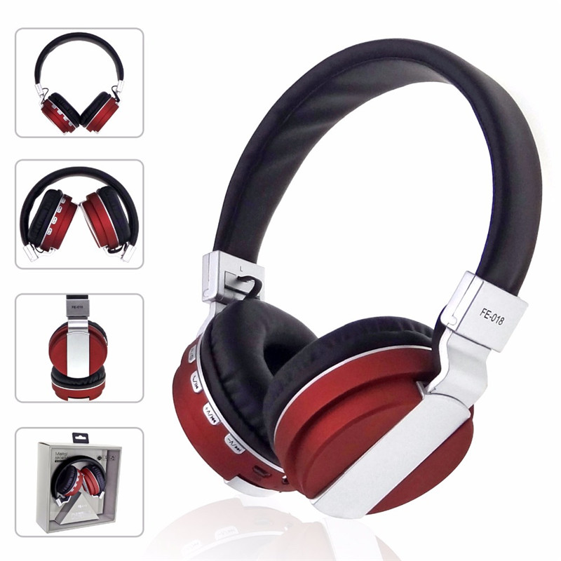 FE-018 Portable Foldable FM Radio 3.5mm NFC Bluetooth Headphone Headset with Mic for Mobile Phone 9