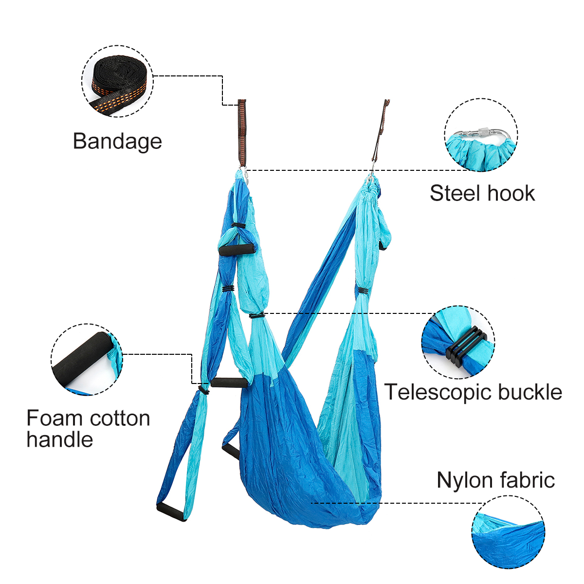 Yoga Hammock Decompression Aerial Yoga Swing Yoga Silk At