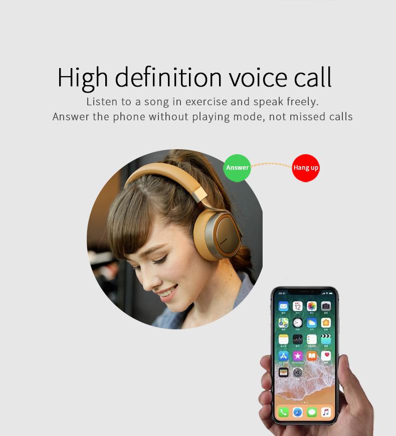 Plextone BT270 Wireless Bluetooth Headphone 800mAh 8G RAM MP3 Heavy Bass Headset for iPhone Samsung 12