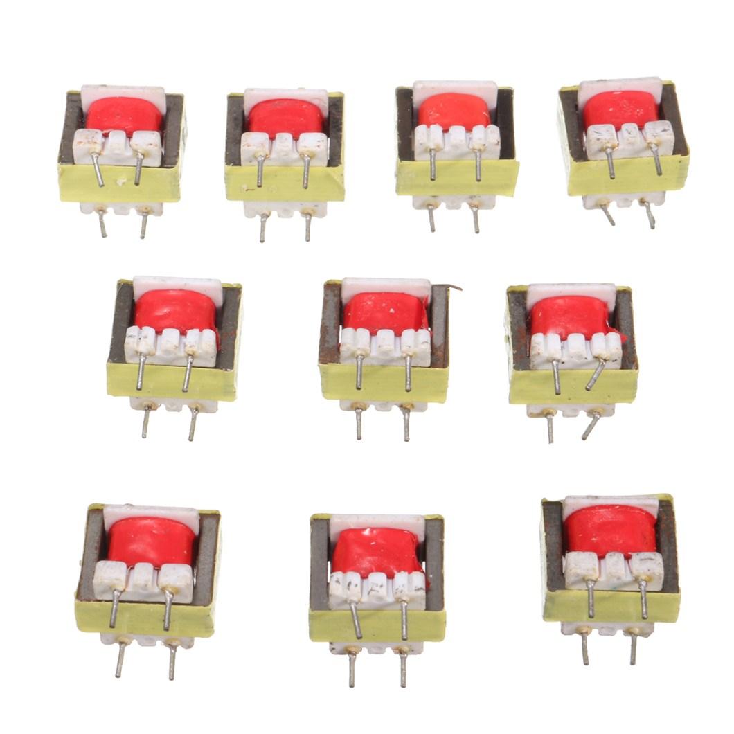 50pcs 1300 : 8 Ohm Audio Transformer EE14 Transformateur Audio POS Transformador 22
