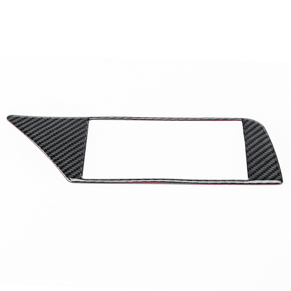 Carbon Fiber Gps Navigation Panel Frame Cover Car Stickers For Audi A4 B8