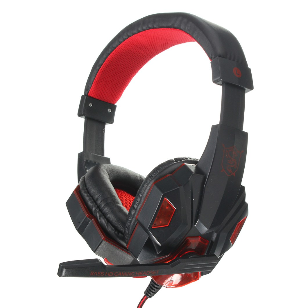 USB 3.5mm LED Surround Stereo Gaming Headset Headbrand Headphone With Mic 11