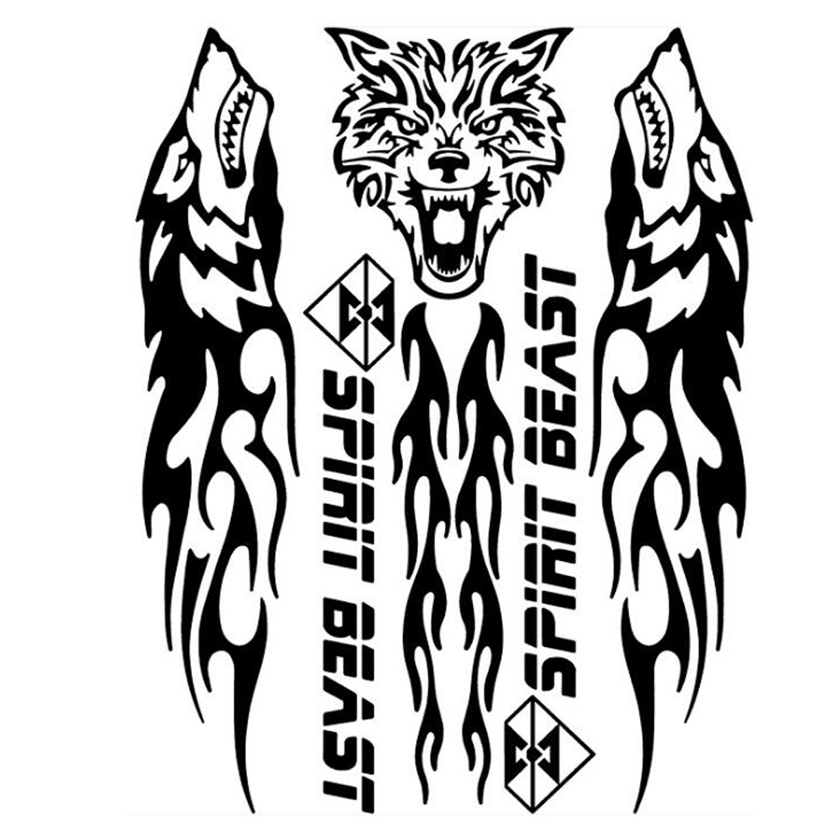 Spirit Beast Reflective Motorcycle Stickers Gas Fuel Tank