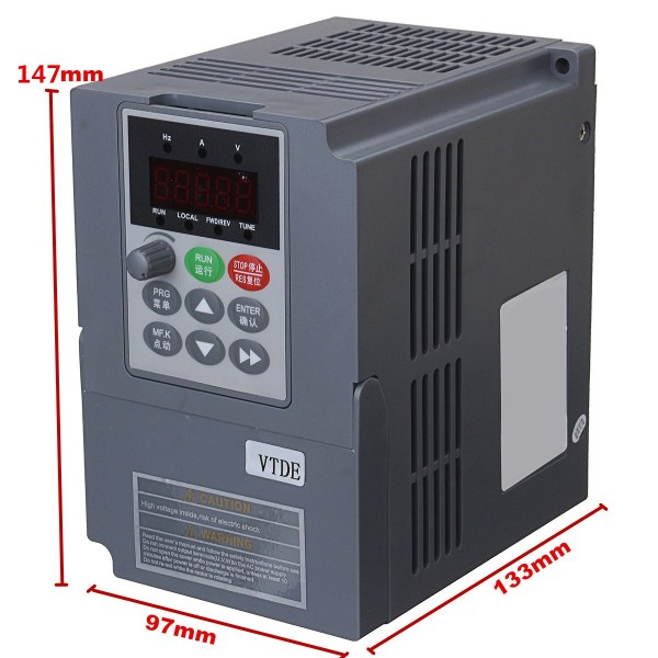 2 2KW 3PH 380V VFD Inverter VFD Drive Variable Frequency Drive For     2 2KW 3PH 380V VFD Inverter VFD Drive Variable Frequency Drive For Motor  Speed Control