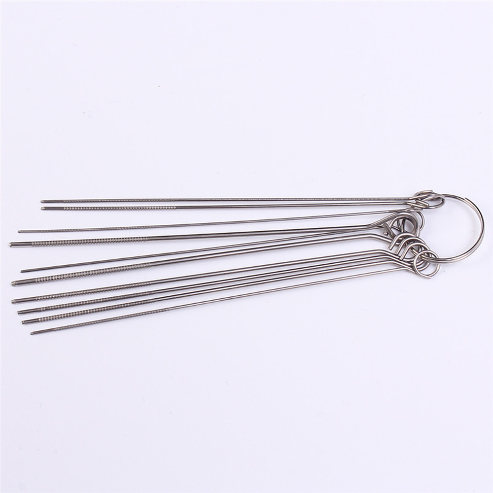 50pcs 10 Kinds Stainless Steel Needle Set PCB Electronic Circuit Through Hole Needle Desoldering Welding Repair Tool 80mm 0.7-1.3mm 19