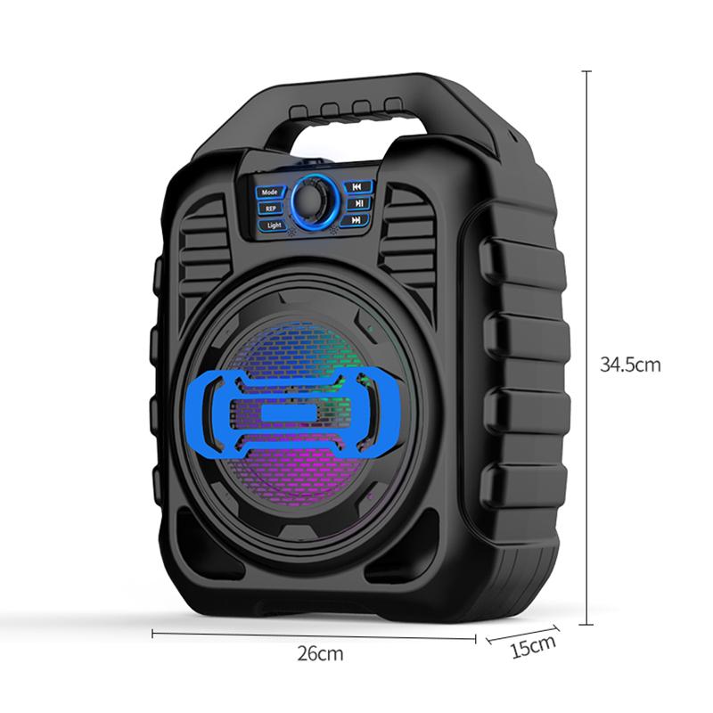 Bakeey Wireless Bluetooth Speaker Kalaoke Colorful Light Stereo TF Card FM Radio Portable Speaker 18