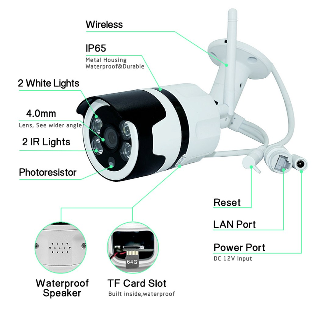 1080P 2MP WiFi Home Security IP Camera Motion Detection Night Vision For Alexa Echo 14
