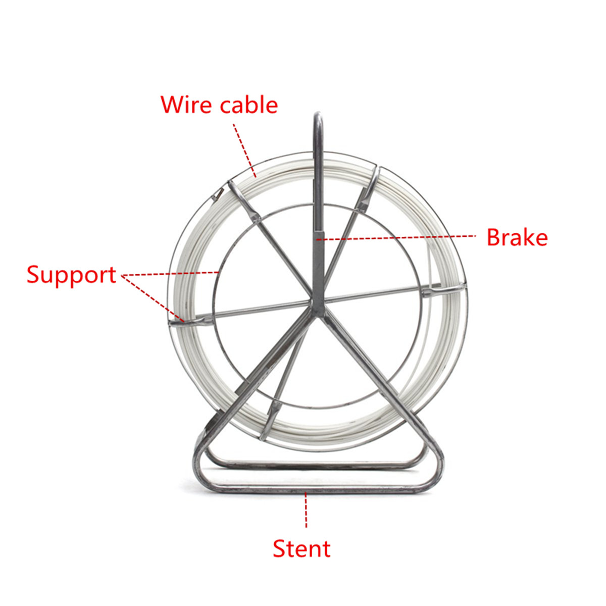 4 5mm Fiber Glass Wire Cable Snake Running Rod Duct Rodder