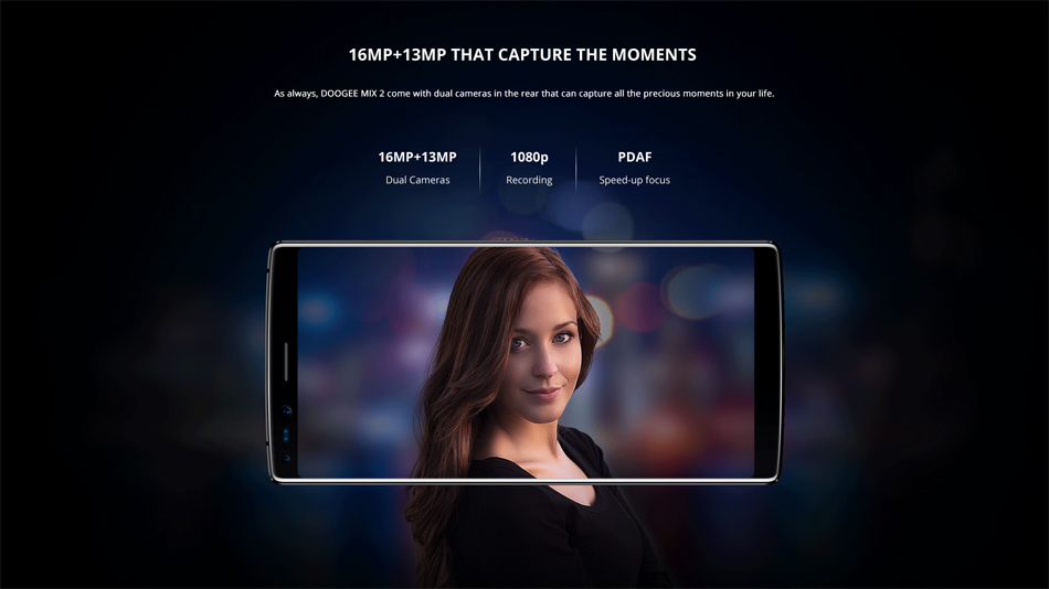 DOOGEE MIX 2 5.99 Inch Facial Recognition 6GB RAM 64GB ROM Helio P25 Octa-Core 4G Smartphone