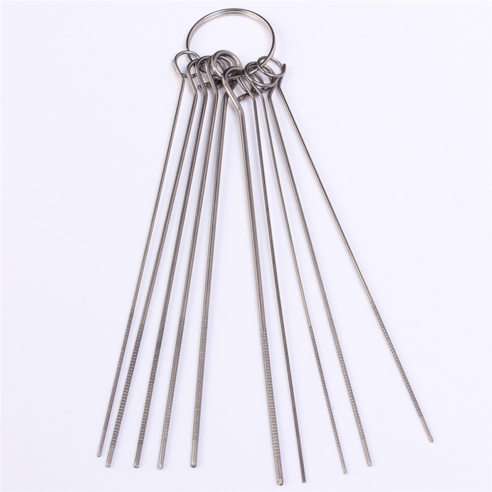 20pcs 10 Kinds Stainless Steel Needle Set PCB Electronic Circuit Through Hole Needle Desoldering Welding Repair Tool 80mm 0.7-1.3mm 17