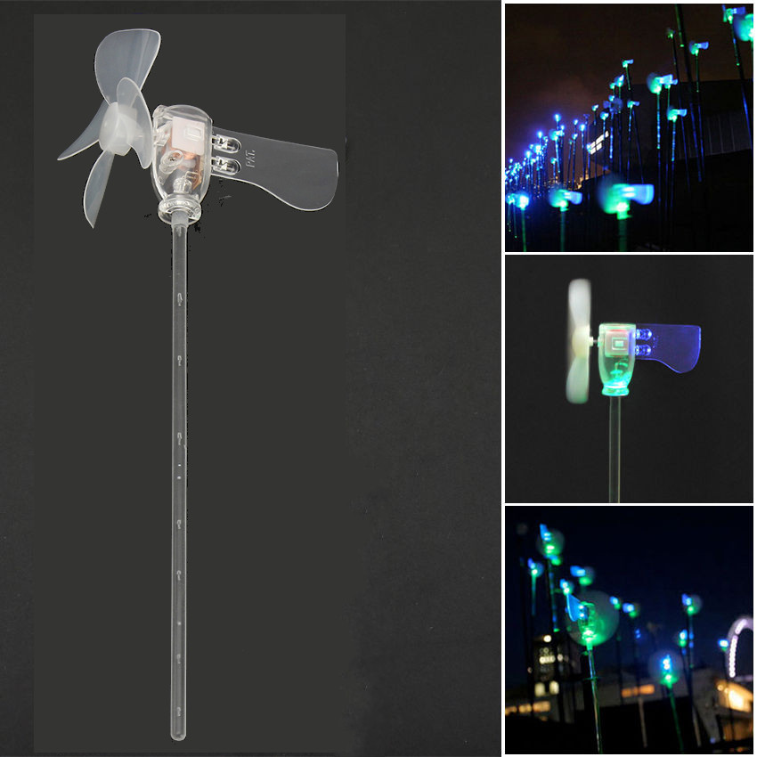 Vertical DIY Project Turbines LED Windmill Small DC Motor Wind Blades Wind Generator 29