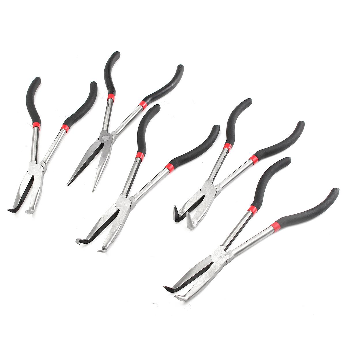 5pcs 11 Inch Needle Nose Pliers Set Long Reach Tool Pliers Sale