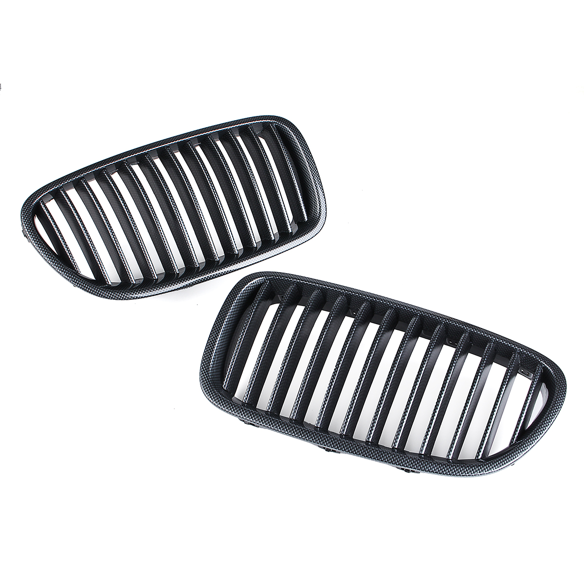 New Pair Carbon Fiber Abs Front Kidney Grille For Bmw F18
