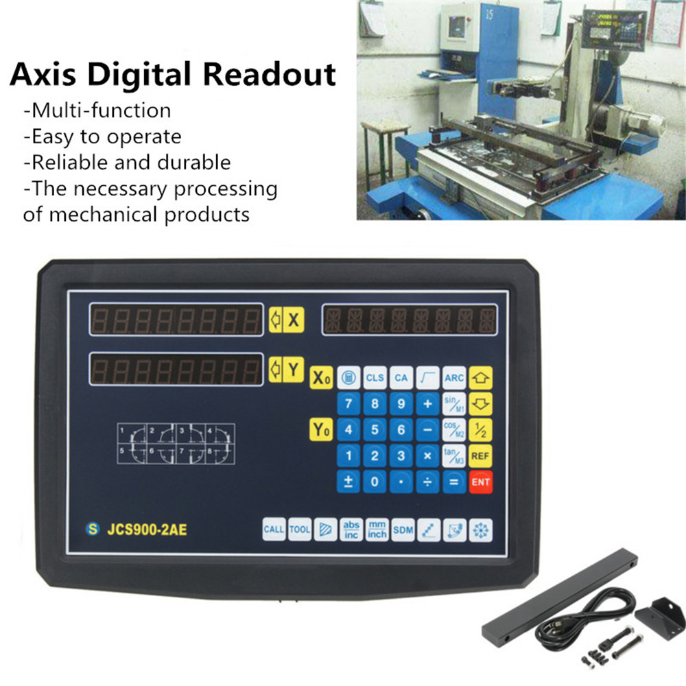 2/3 Axis Grating CNC Milling Digital Readout Display / 50-1000mm Electronic Linear Scale Lathe Tool 55
