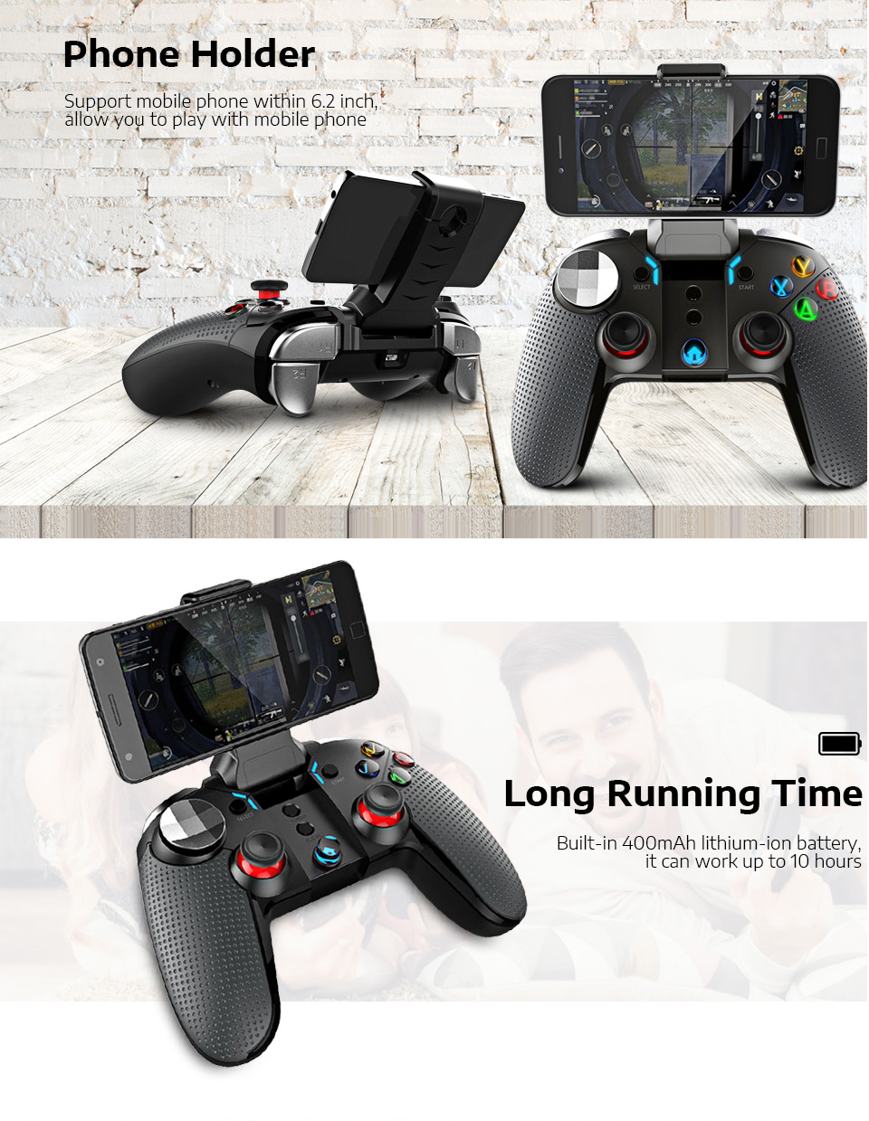 Ipega PG-9099 Wireless Bluetooth Game Controller Gamepad For PUBG