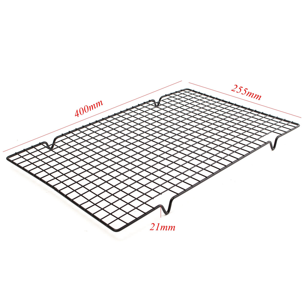 25x40cm Nonstick Cookie Baking Grid Outdoor Bbq Cooling Biscuit Cake Drying Stand Wire Pan