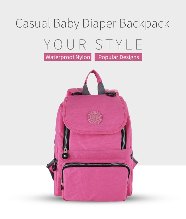 Insular® Women Nylon Casual Baby Diaper Bag Nappy Bag Backpack for Baby Care